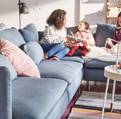 A sofa in accessible, modern design, SÖDERHAMN consists of sections that can be combined with great flexibility. Low, deep-seated profile and comfortable multi-cushion backrest.
