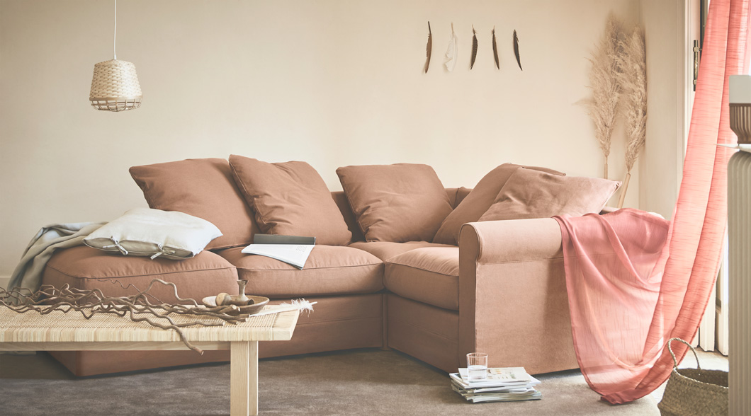 GRÖNLID is a sectional sofa that can be built into almost any size and shape, with many covers to choose from.