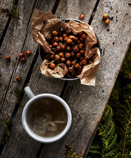 IKEA EGENTID can be used for spicing up snacks, like these chai and chili toasted chickpeas.