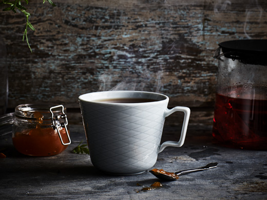 IKEA EGENTID teas can be used as spices, too. Visit our website to get the recipe for rooibos tea with marmalade.