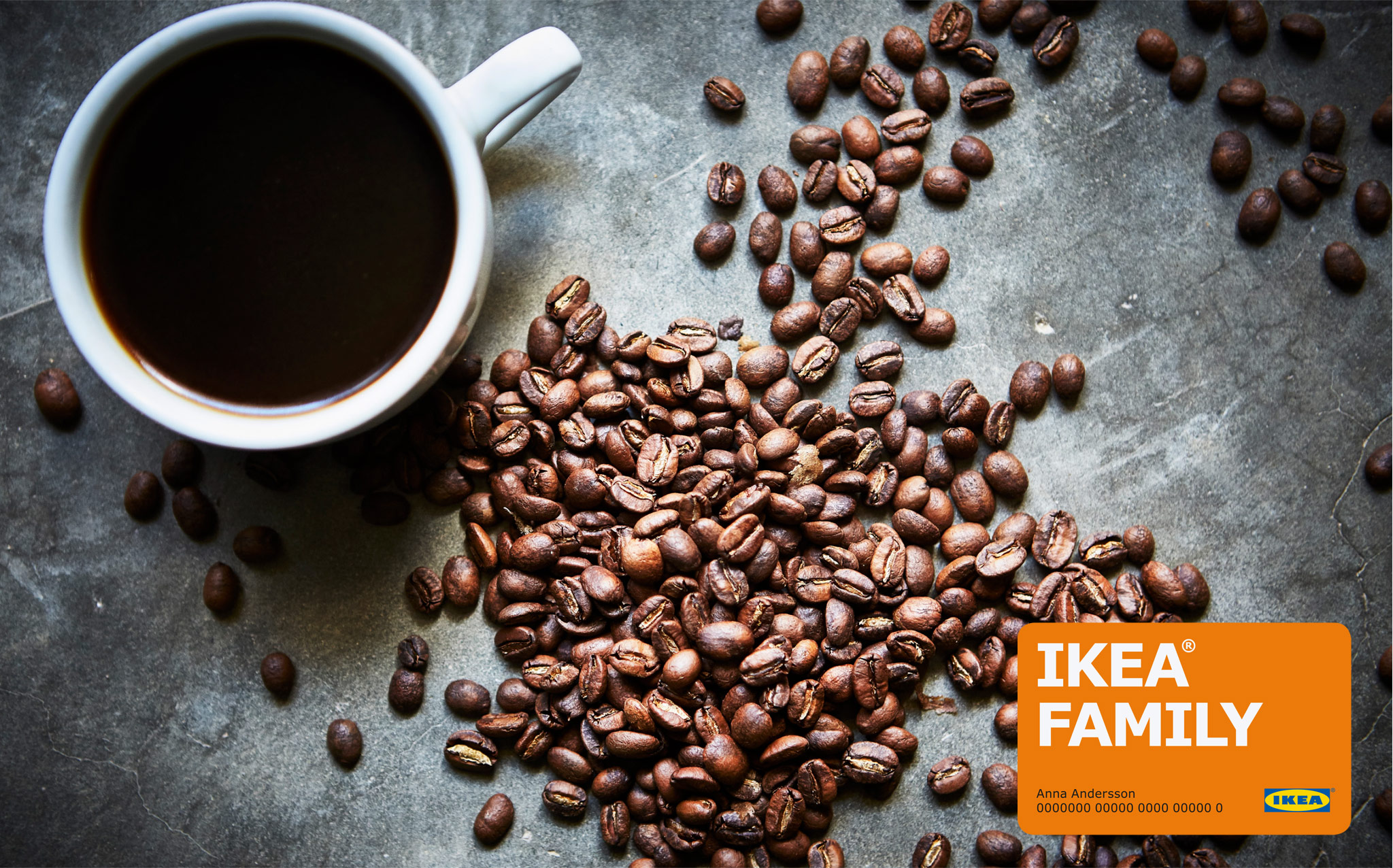 With your IKEA FAMILY card our flavourful, UTZ certified and organic coffee is FREE in the IKEA Restaurant.