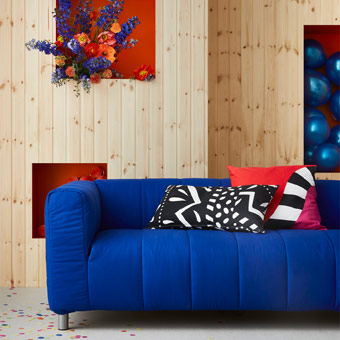 Let's reminisce back to the 70's and 80's with GRATULERA textiles in bold colours, celebrating IKEA 75 years.