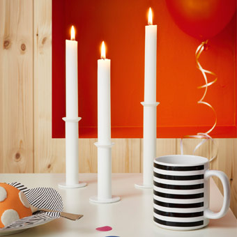 Let's reminisce back to the 70's and 80's with TYNGDKRAFT candle sticks, celebrating IKEA 75 years.