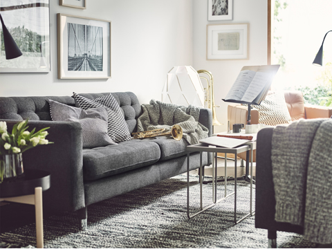 Facing each other, sofas can create the feeling of a secluded, relaxed area within a room.