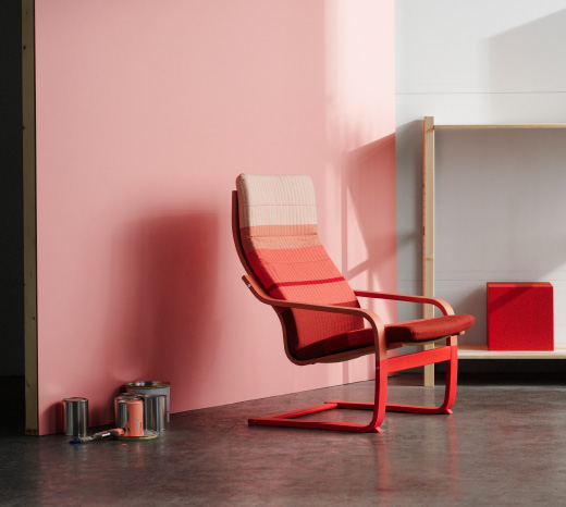 Part of the LYSKRAFT collection, this POÄNG armchair comes in different shades of orange.