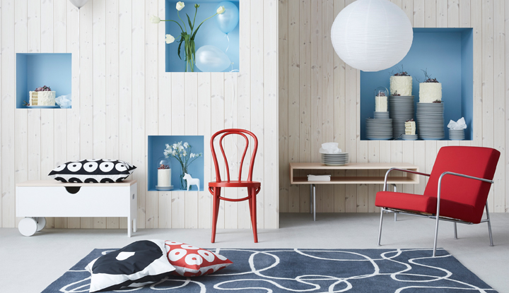 Sit back in BJURÅN armchair from the 90-00's edition of GRATULERA vintage collection, celebrating IKEA turning 75 years.