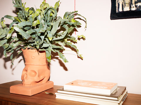Add a plant to this decorative FÖREMÅL skull plant pot, and it brings the terracotta pot to life.