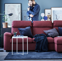 A sofa series to make binge-watching, family gatherings, TV dinners, and lazy days equally enjoyable. From the bottom of the pocket springs to the top of the headrest – LIDHULT is here to sweep you off your feet.