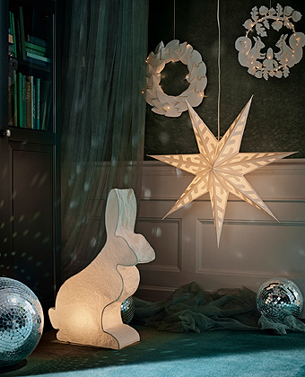 With circles, hearts, angels, mushrooms, rabbits, birds, stars - and even squirrels - the STRÅLA lights in the IKEA Winter collection is like a Christmas fairytale brought to life in your home.