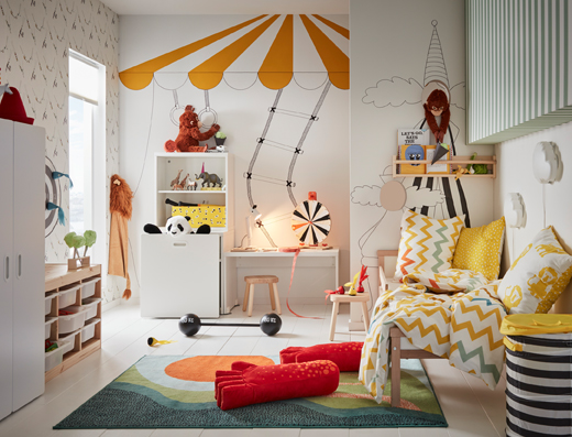 IKEA LUSTIG series has a wide range of children's toys and boardgames made from pine wood that all promote creativity and playing together as a family.