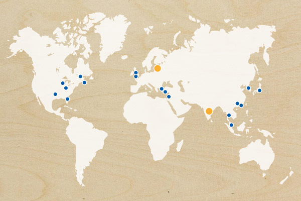 Map showing our arrival, expansion and upcoming launches in countries around the world.