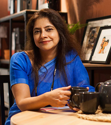 A portrait Preet Duphar, IKEA India's female chief finance officer.