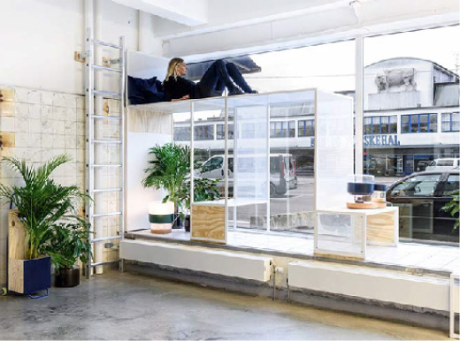 Modular devices attached to a display window, that automatically open and close windows to regulate airflow.