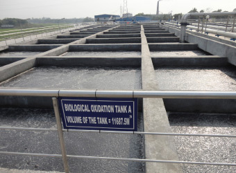 Water treatment facility at an IKEA supplier factory in Bangladesh