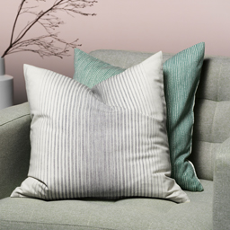 The IKEA ISPIGG cushion cover is made from 100% more sustainable non-bleached cotton yarn.