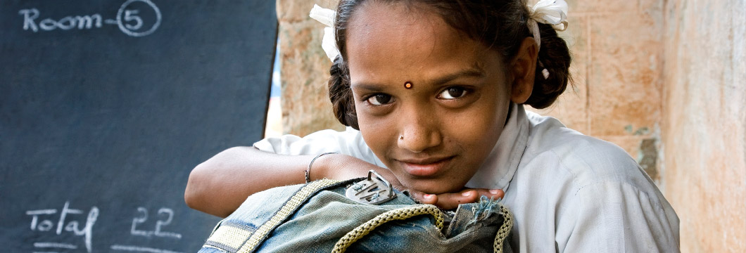 An Indian girl in school