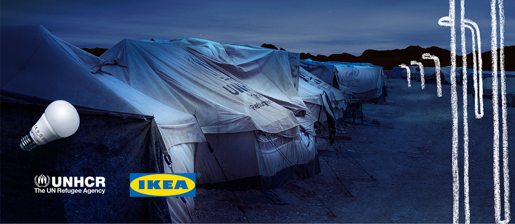 IKEA Power of light LED campaign banner