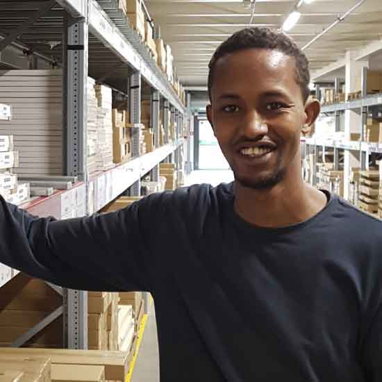 Meet refugee and co-worker Mohamed Abdullahi and find out about his view on working at IKEA.