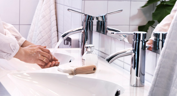Reduce your water usage up to 50% by installing an IKEA bathroom faucet