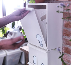 RETUR recycling solution is great for small spaces