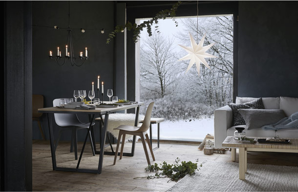 The new IKEA winter collection includes tables, chairs, candle lighting, decorations, and more to welcome the rugged beauty of Iceland into your home.