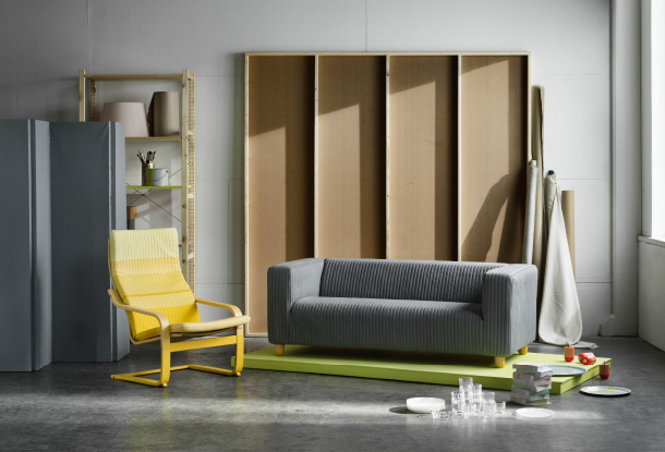 New at IKEA, the LYSKRAFT collection, a series of KLIPPAN sofas, POÄNG armchairs and more hacked by Dutch designer-duo Scholten & Baijings.
