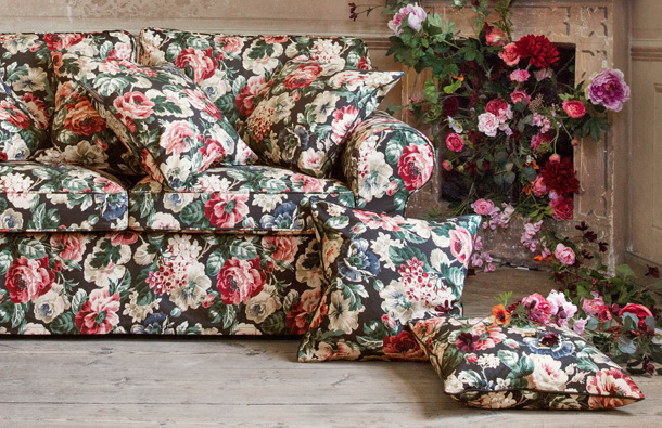 In October, IKEA launches a variety of products with a fashionably eclectic mood in rich colours and patterns that go from chequered to floral like this cushion cover.