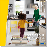 A report with a front cover of a grandmother and her grandchild playing in a white country kitchen.