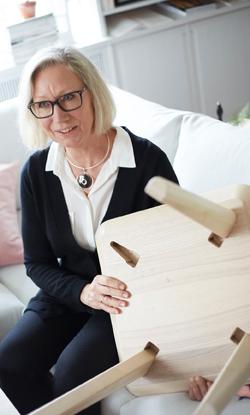 A photo of Marianne Hagberg, one of the designers of LISABO desk.