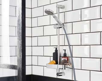Save water and energy with the new IKEA showers VOXNAN, BROGRUND and VALLAMOSSE.