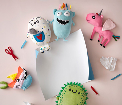 Your kid's drawing can materialise into a soft toy to be sold in every IKEA store!