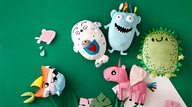 The IKEA SAGOSKATT soft toy series was designed by kids to help other kids.