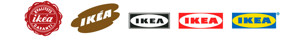Sequence of IKEA logos from 1951 to present day