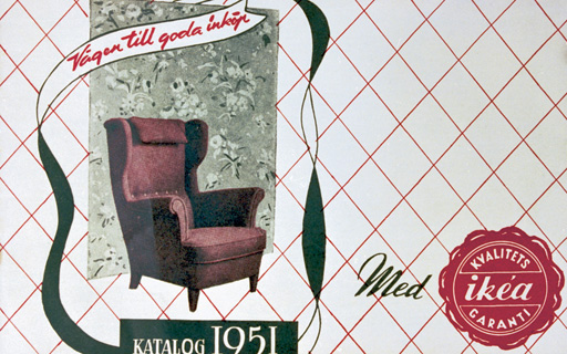 The very first IKEA catalogue was published in 1951.
