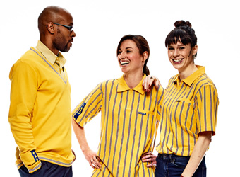 IKEA co-workers working in the store