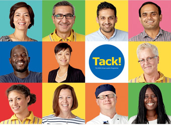 a photo collage of different IKEA co-workers