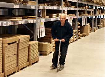 An IKEA co-worker inside IKEA's self-service warehouse