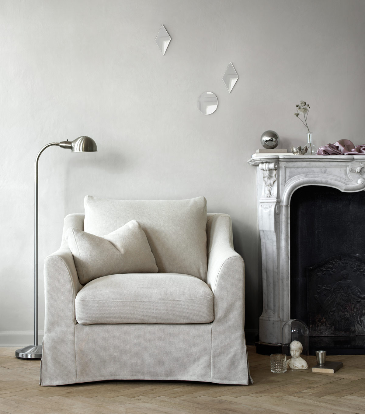 A light living room with a generous sized armchair that has an additional  loose cushion. IKEA Jordan   Office   Home Furniture in Jordan   Home Furnishing