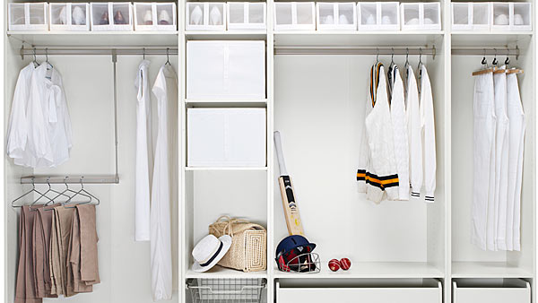 Small space | Walk-in closet room divider - IKEA