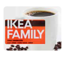IKEA FAMILY card and coffee cup