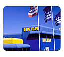 IKEA store with flags outside