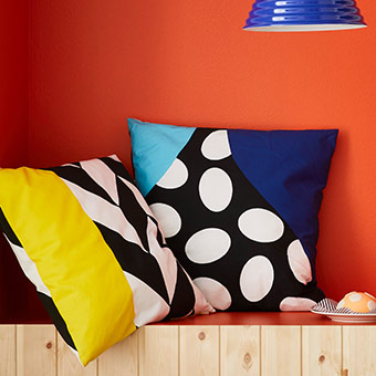 Let's reminisce back to the 70's and 80's with MOSAIKBLAD Cushion cover IKEA The zipper makes the cover easy to remove. Cotton is a soft and easy-care natural material that you can machine wash.