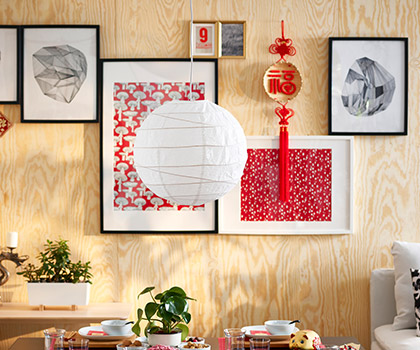 RIBBA frames and wall pictures showcase