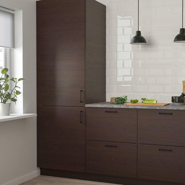 ASKERSUND Door, dark brown ash effect, 61x152 cm