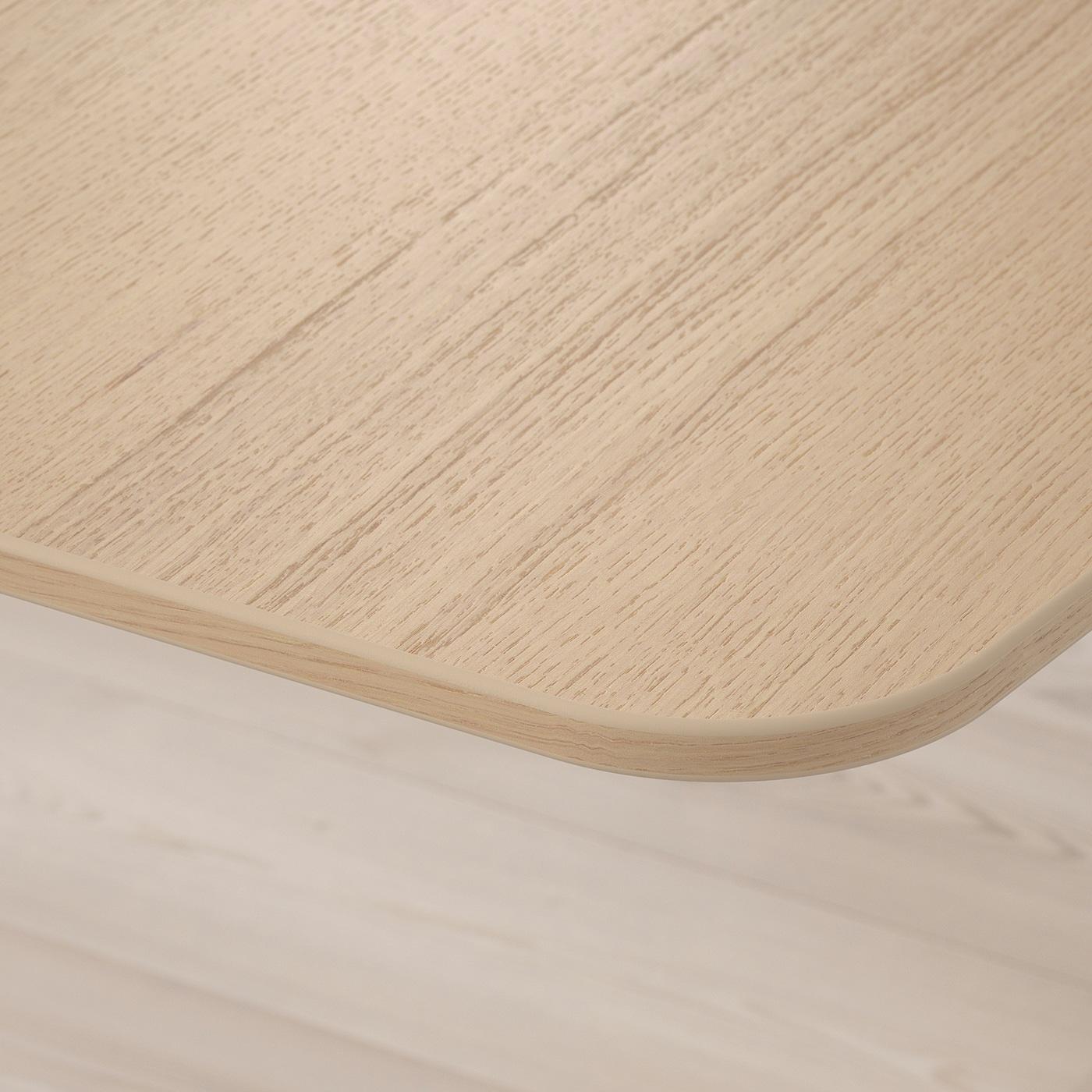 Bekant Corner Desk Left White Stained Oak Veneer White Ikea