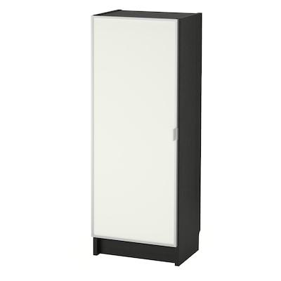 BILLY / MORLIDEN Bookcase with glass door, black-brown/glass, 40x30x106 cm
