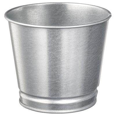 BINTJE Plant pot, galvanised, 10.5 cm