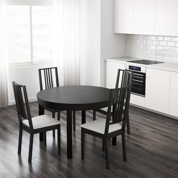 Bjursta Extendable Table Brown Black 115 166 Cm Ikea