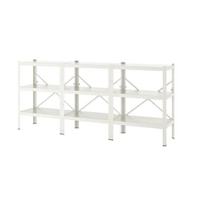 BROR Shelving unit, white, 254x40x110 cm