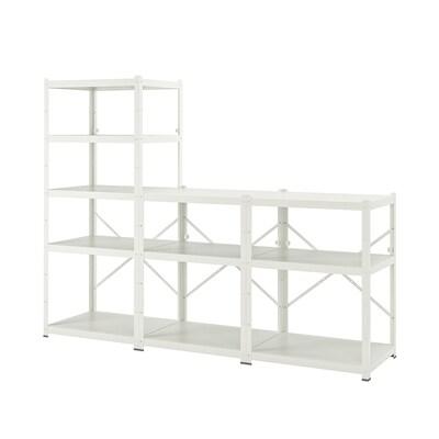 BROR Shelving unit, white, 254x55x190 cm